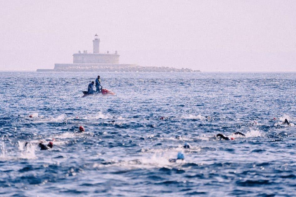 Triathlon training for the swim section